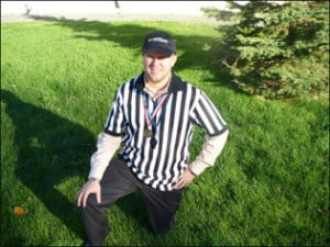 Dr. Justin enjoyed being a referee for 4-5 year old flag football.