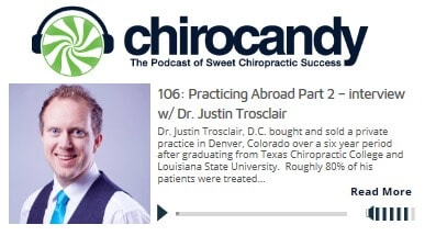 Billy Sticker of ChiroCandy interviews Dr Justin Trosclair e 106