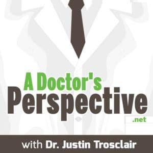 a Doctors Perspective labcoat Podcast Logo