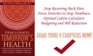 12 exercies core strength, numbness neuroglides, calorie calculator, budgeting