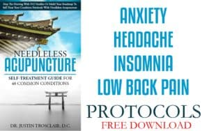 needleless acupuncture anxiety low back insomnia headache