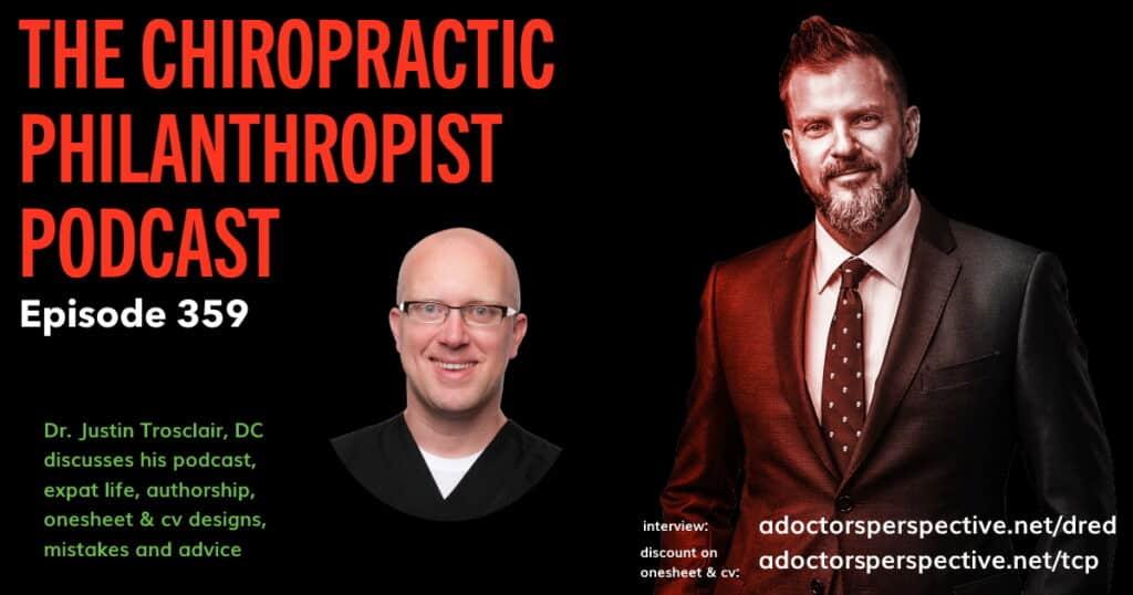 dr ed osburn Chiropractic Philanthropist 359 one sheet and cv interview full 2